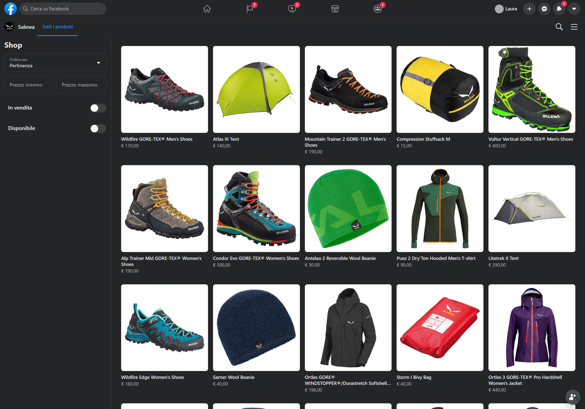 facebook shop salewa 2